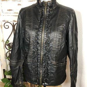 Big chill vintage vegan leather jacket